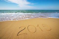 2015 ans sur la mer Photographie stock