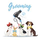 Ansa begrepp med hundkapplöpning royaltyfri illustrationer