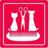 Ansa frisersalongen för husdjur royaltyfri illustrationer