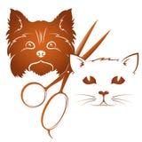Ansa hundkapplöpning och katter vektor illustrationer