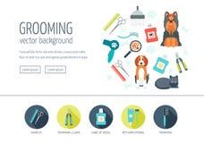 Ansa rengöringsdukdesignbegreppet för website och att landa sidan Illustration i vektor Plan design vektor royaltyfri illustrationer