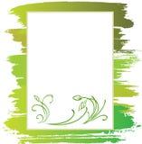 Ansage mit grüner Blume Lizenzfreie Stockfotos