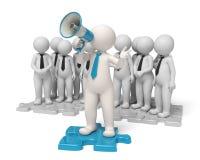 Ansagen - Teamleiter des Geschäfts 3d Lizenzfreies Stockfoto