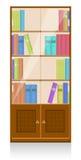 Ansammlung Bücher in einem hölzernen Bücherregal Lizenzfreies Stockfoto