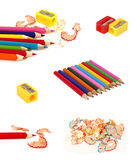 Ansammlung Bleistifte Stockbilder