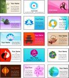 Ansammlung der Yoga- und Zen-Visitenkarte Schablonen Stockbild