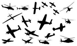 Ansammlung des Flugzeuges Stockfotografie