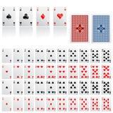 Ansammlung des Spielkartenvektors Lizenzfreie Stockfotos