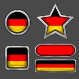 Ansammlung deutsche Markierungsfahnenikonen Lizenzfreie Stockfotografie