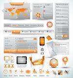 Ansammlung erstklassigen Schablonen und des Web-Materials Haupt lizenzfreie abbildung
