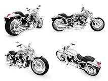Ansammlung Fahrräder getrennte Ansichten Lizenzfreies Stockbild
