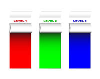 Ansammlung farbige Kennsätze Lizenzfreie Stockfotografie