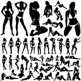 Ansammlung Frauen im Bikinivektor Stockfoto