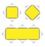 Ansammlung gelber Hintergrund Stockfotos