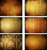 Ansammlung grunge Weinlese-Hintergrundbeschaffenheiten Lizenzfreies Stockbild