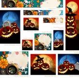 Ansammlung Halloween-Fahnen Stockbild