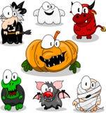 Ansammlung Halloween-Geschöpfe Lizenzfreie Stockbilder