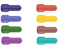 Ansammlung hell farbige Web-Elemente Stockfotos