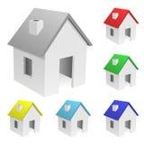 Ansammlung kleine Häuser Lizenzfreie Stockfotos