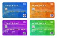 Ansammlung Kreditkarten lizenzfreie stockbilder