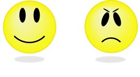 Ansammlung Lächeln. Vektorabbildung. lizenzfreie stockfotos