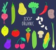 Ansammlung lustiges Gemüse und Frucht Lizenzfreie Stockfotos