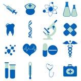 Ansammlung medizinische Ikonen Lizenzfreies Stockfoto