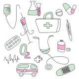 Ansammlung medizinische Zeichen Lizenzfreie Stockfotografie