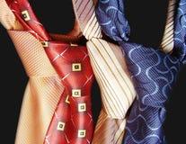 Ansammlung neckwears. lizenzfreie stockbilder