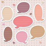 Ansammlung nette rosafarbene Spracheluftblasen Lizenzfreie Stockfotos