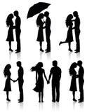 Ansammlung Paare. Stockfotos
