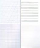 Ansammlung Papierhintergründe Stockfoto