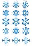 Ansammlung Schneeflocken vektor abbildung