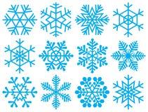 Ansammlung Schneeflocken. Lizenzfreie Stockbilder
