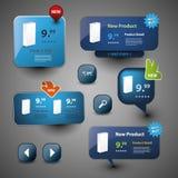 Ansammlung site-Elemente Lizenzfreie Stockfotos
