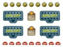 Ansammlung Verkaufs-Marken Lizenzfreies Stockfoto