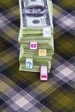Ansammlung von Dollar Lizenzfreies Stockbild