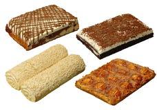 Ansammlung von Kuchen vier mit Ausschnittspfad stockbild