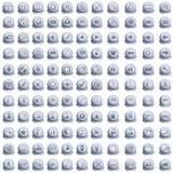 Ansammlung Web-Tasten Lizenzfreie Stockbilder