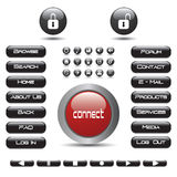 Ansammlung Web-Tasten - ENV-Vektor Stockbilder