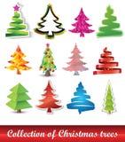 Ansammlung Weihnachtsbäume stock abbildung