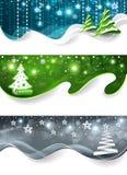 Ansammlung Weihnachtsfahnen stock abbildung