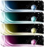 Ansammlung Weltfahnen Stockbilder