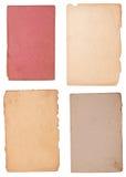 Ansammlung weniger alter Papierstücke Stockbilder