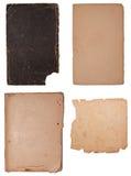 Ansammlung weniger alter Papierstücke Stockbild