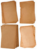 Ansammlung weniger alter Papierstücke Lizenzfreies Stockbild