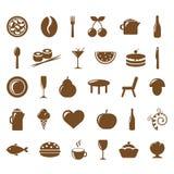 Ansammlungs-Gaststätte-Ikonen Stockbild
