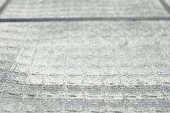 Ansammlungsstaub auf Filter des Luftreinigers Stockfotos
