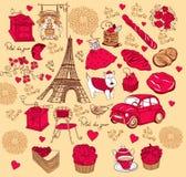 Ansammlungssymbole von Paris. Lizenzfreie Stockfotografie