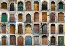 Ansammlungstüren Toskana Italien Lizenzfreies Stockfoto